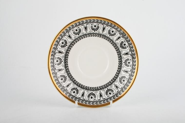 Crown Staffordshire - Black Victoria - Tea Saucer - For footed cup