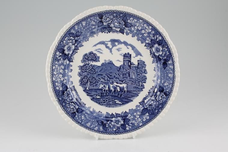 Adams - English Scenic - Blue - Old Backstamp - Starter / Salad / Dessert Plate