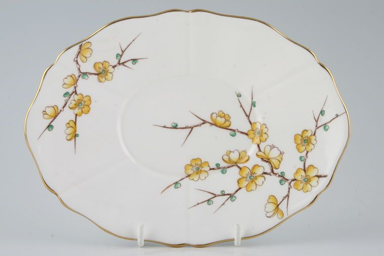 Adderley - Chinese Blossom - Yellow - Sauce Boat Stand