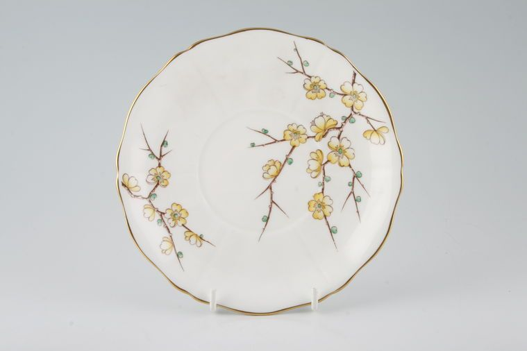 Adderley + Royal Adderley - Chinese Blossom - Yellow - Soup Cup Saucer