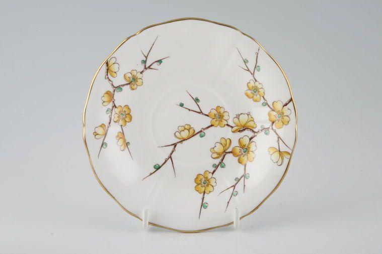 Adderley + Royal Adderley - Chinese Blossom - Yellow - Tea Saucer
