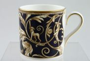 "Wedgwood - Cornucopia - Coffee/Espresso Can - 2 1/8 x 2 1/4"" - Blue"